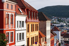OLD HOUSES IN BERGEN. Beautiful traditional wooden houses in Bergen, Norway Royalty Free Stock Images