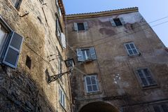 Old houses in Bracciano in Italy Royalty Free Stock Image