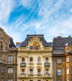 Old houses in Budapest, Hungary, Europe. Royalty Free Stock Photography