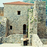Old houses in Budva, Montenegro. Royalty Free Stock Photography