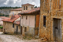 Old houses in Calatanazor, Soria, Spain. Old houses, typical medieval architecture in Calatanazor, Soria, Spain Royalty Free Stock Photography