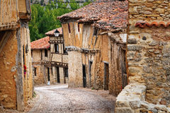 Old houses in Calatanazor, Soria, Spain Royalty Free Stock Photo