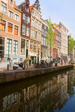 Old houses on canal, Amsterdam Royalty Free Stock Image