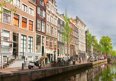 Old houses on canal, Amsterdam Royalty Free Stock Photography