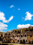 Old houses at Castle Comb village, Somerset, UK. Old British style houses at Castle Comb village, Somerset, UK Stock Photos