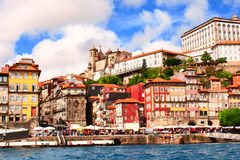 Old houses and cathedral in Porto, Portugal Royalty Free Stock Photography