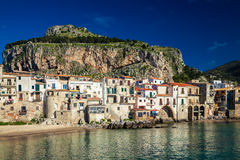 Old houses in Cefalu Stock Photos