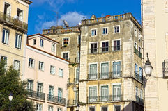 Old houses in the Centre of Lisbon Royalty Free Stock Photography