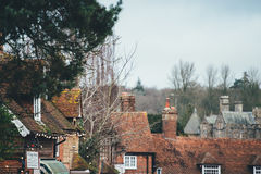 Old houses with chimneys Royalty Free Stock Photo