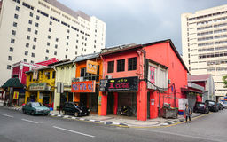 Old houses at Chinatown in Kuala Lumpur, Malaysia.  Royalty Free Stock Photography