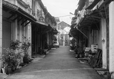 Old houses at Chinatown in Penang, Malaysia Stock Image
