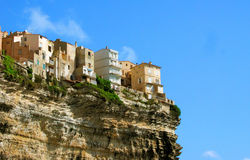 Old houses on a cliff Royalty Free Stock Photography