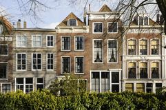 Old houses on damplein, middelburg Stock Images