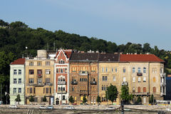 Old houses on Danube Budapest Royalty Free Stock Photo