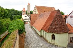 Old houses in Dinkelsbuhl. Royalty Free Stock Image