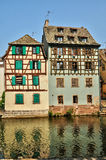 Old houses in the district of La Petite France in Strasbourg Stock Images