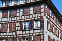 Old houses in the district of La Petite France in Strasbourg Royalty Free Stock Images