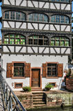 Old houses in the district of La Petite France in Strasbourg Stock Photo