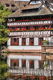Old houses in the district of La Petite France in Strasbourg Stock Photography