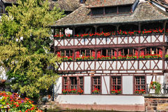 Old houses in the district of La Petite France in Strasbourg Stock Image