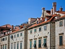 Old houses in Dubrovnik. Old houses with wooden windows in Dubrovnik, Croatia Stock Photography