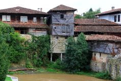 Old houses of Elena town, Bulgaria. Old houses of Elena town of Bulgaria royalty free stock photo