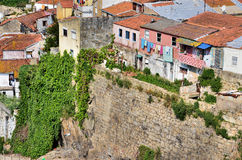 Old houses on the escarpment Royalty Free Stock Image