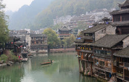 Old houses at Fenghuang Ancient Town in Hunan, China Royalty Free Stock Photography