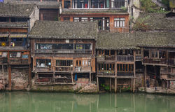 Old houses in Fenghuang Town, China Royalty Free Stock Images