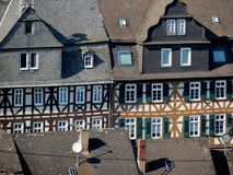 Old houses. In a German city Stock Photos