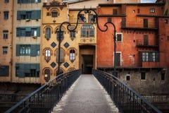 Old Houses of Girona Stock Photography