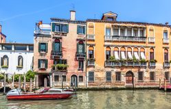Old houses on Grand Canal, Venice, Italy royalty free stock photos
