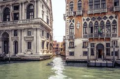 Old houses on Grand Canal, Venice, Italy royalty free stock photography