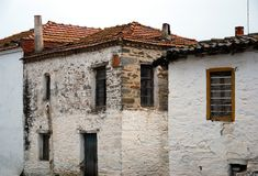 Old houses in Greece. Very old houses in a village in Greece Stock Photo