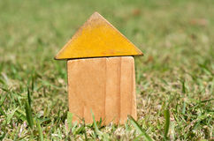 Old houses on green grass Royalty Free Stock Photos