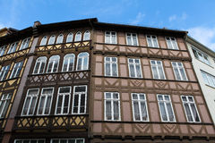 Old houses in Hannover. Old typical half-timbered houses in Hannover, Germany Royalty Free Stock Photos