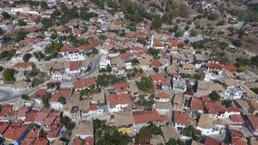 Old houses on the hill made in Turkey. Old houses and road,streets on the hill made in Turkey stock footage