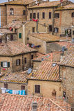 Old houses on the hill top of Volterra Royalty Free Stock Photo