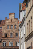 Old houses in the historic center of Lubeck Stock Photography