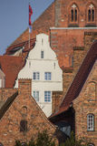 Old houses in the historic center of Lubeck. Germany Stock Images