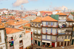 Old houses in historic part of town, Porto Stock Image