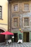 Old houses in historical center of Prague Stock Photos