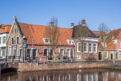 Old houses in historical city Sneek. Netherlands Stock Images