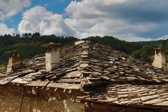 Old houses in the historical cultural reserve village of Dolen, Bulgaria. Stock Photography