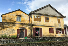 Old houses at Hoian Ancient Town, Quang Nam, Vietnam Stock Photos