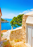 Old houses at Hydra Stock Image