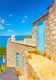 Old houses at Hydra Stock Photography
