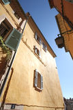 Old houses of Hyeres with jalousies Stock Photography