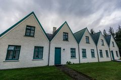 Old houses of islandic government in Pingvellir national park. Iceland royalty free stock images