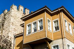 Old houses from Istanbul in Turkey Royalty Free Stock Photo